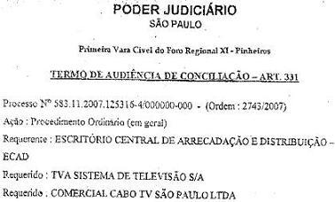 TVA é condenada a pagar direitos autorais ao Ecad